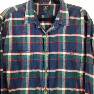 J. Crew Factory Slim Flannel Shirt sz XL
